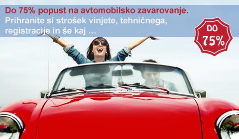 75% popust na avtomobilsko zavarovanje