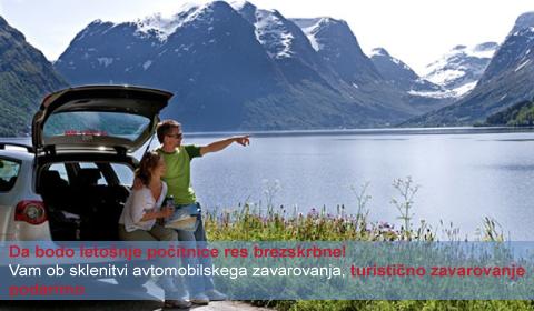 Ob sklenitvi avtomobilskega zavarovanja podarimo turistično zavarovanje