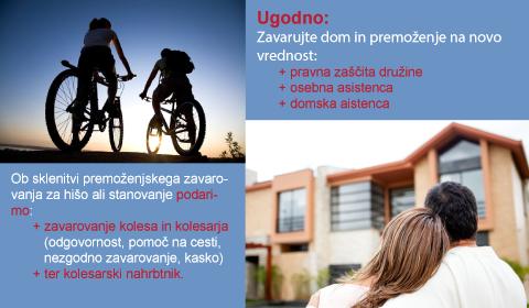 premoženjsko zavarovanje, podarimo zavarovanje kolesa in kolesarja